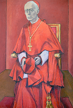Portrait du Cardinal Charles Journet peint par Armand Niquille en 1965