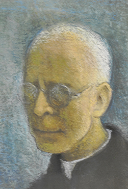 Portrait de Charles Journet peint par Théodore Strawinsky en 1976